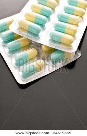 Medicamentos antibióticos, pílula