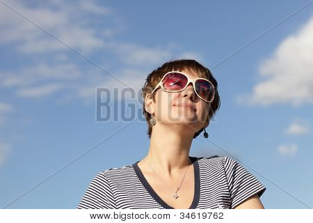 Woman With Sunglasses Outdoor