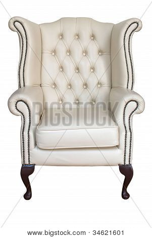Antique Leather Armchair