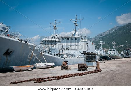 Upper part of the superstructure of Montenegro warship