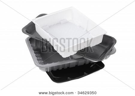 Stack Of Food Trays