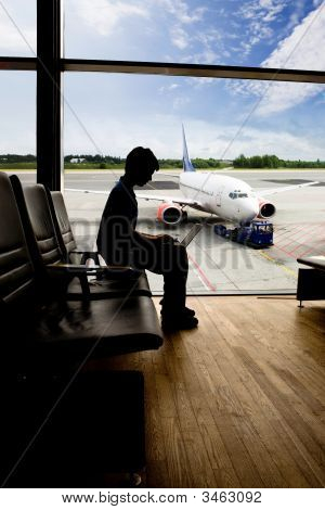 Airport Computer Work