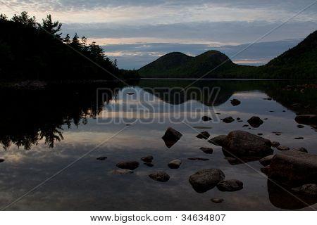 Dusk at Jordan Pond