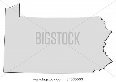 Map Of Pennsylvania (united States)