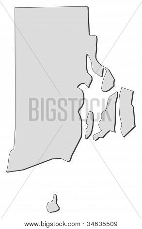Map Of Rhode Island (united States)