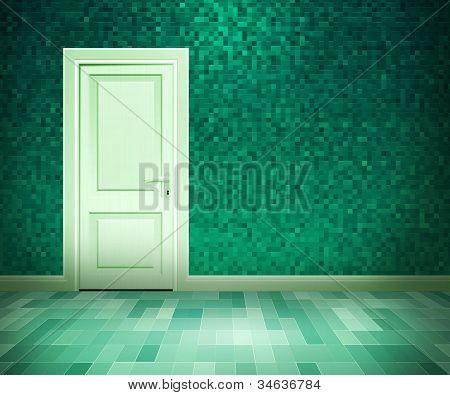 Tür im Bad