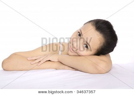 Brunette Woman Relaxing