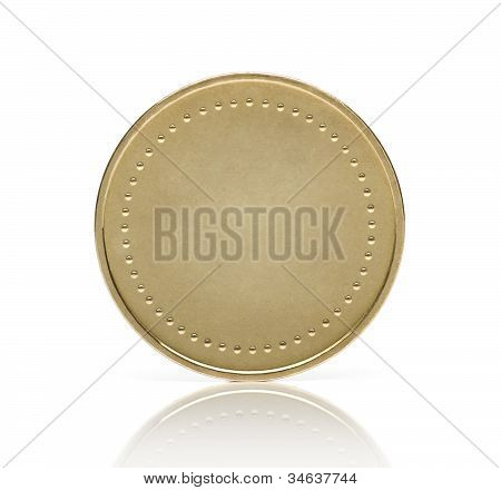 Moneda de oro blanco