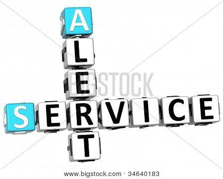 3D Alert Service Crossword