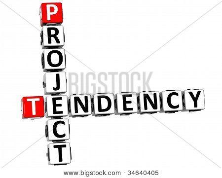 3D Project Tendency Crossword