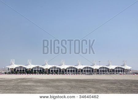 Formula 1 main grandstand in Bahrain International Circuit