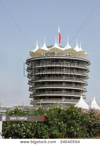 The VIP tower (Sakhir tower) at Bahrain International Circuit
