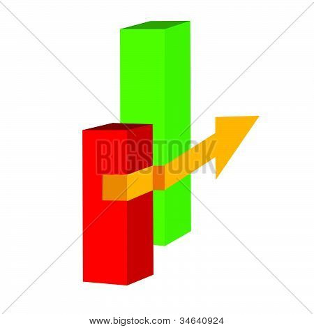 Yellow Arrow Illustration