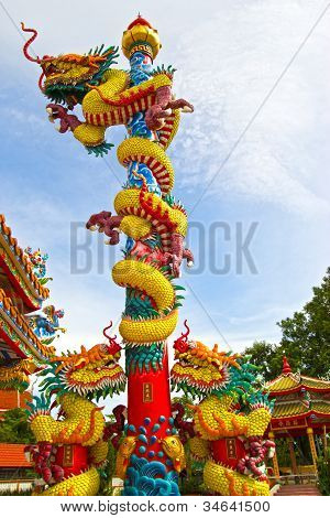 Demon Swan Jade Dragon On The Shrine Of A Dead Person
