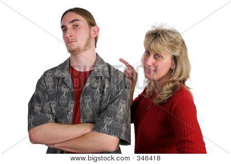 Defiant Teen Angry Mom