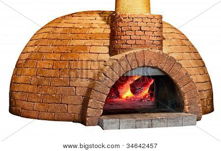 Old Bread Oven Isolated On White Background
