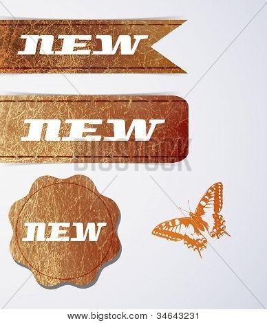 Etiquetas de cuero