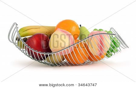 Colorful Fruit Basket
