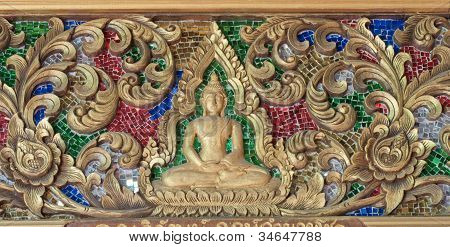 The Wood Carving In The Thai Church