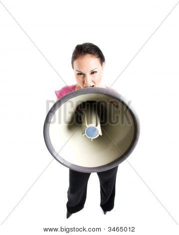 Shouting Businesswoman