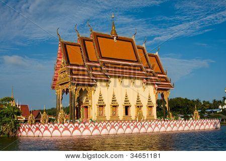 zweier buddhistischen Tempel auf der Insel Koh Samui, thailand