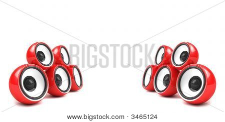 Red Stylish Stereo System