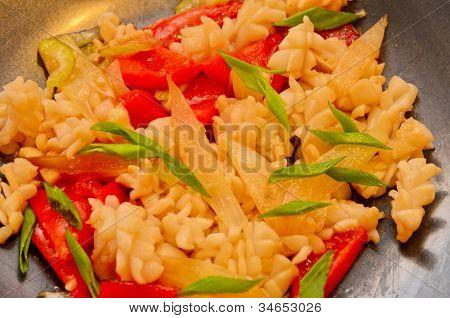 calamari with celery at black plate