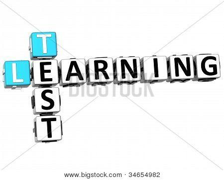 3D Test Learning Crossword