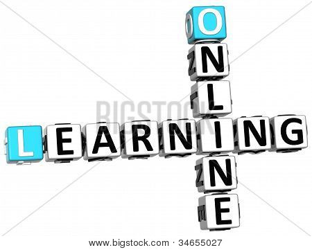 3D Online Learning Crossword