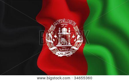 Afghanistan Waving Flag