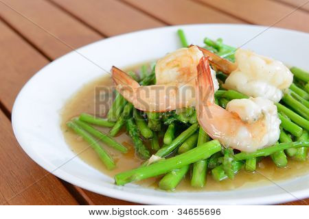 Fried Shrimp With Asparagus