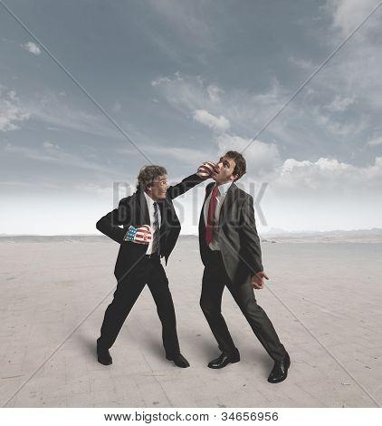 Los empresarios y el desafío de boxeo