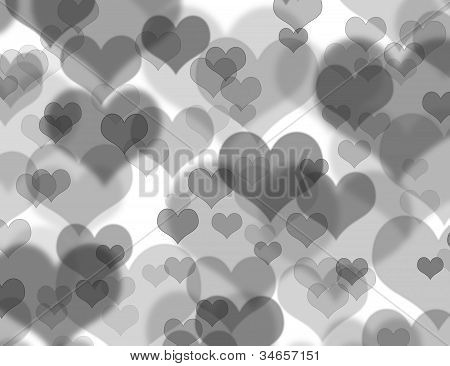 Beautiful Heart Boheh Background
