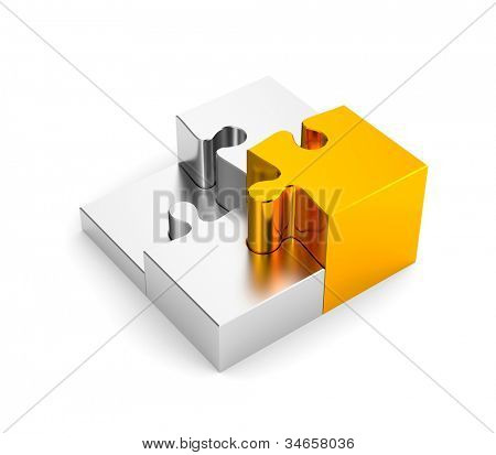 Podium from puzzles, with one gold