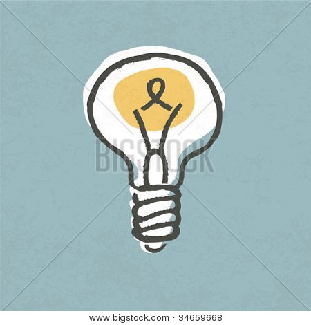 Lightbulb illustration. Creative idea symbol concept. Vector, EPS10.