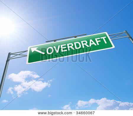 Overdraft Concept.