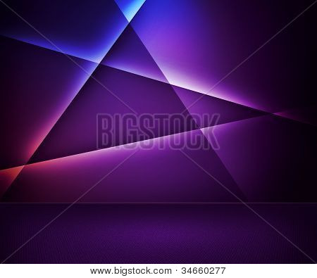 Violet Abstract Room