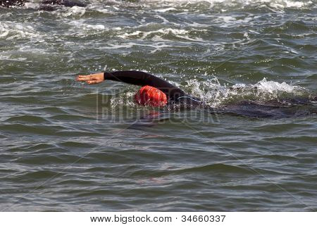 Female Triathlon Swimmer