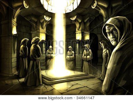 mystisches ritual