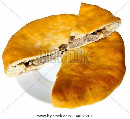 Osset national pie Fyddzhin with meat