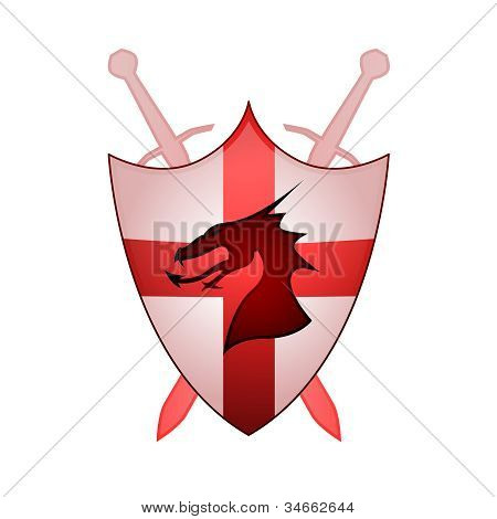Cross Of England Sheild