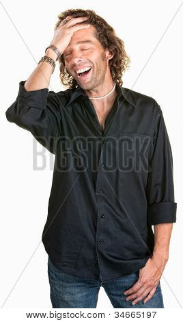 Attractive Man Laughing