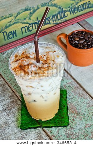 Delicious Ice Coffee Latte