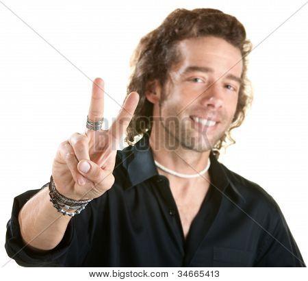 Man With V Symbol