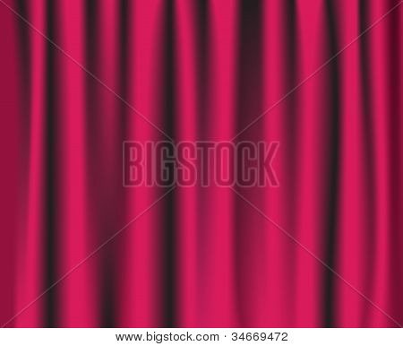 Pink Theatre Curtain