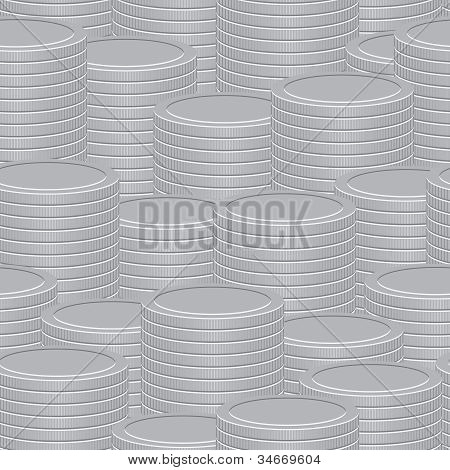 Abstract Vector Background - A Stacks Of Coins