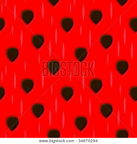 Vector Seamless Watermelon Texture