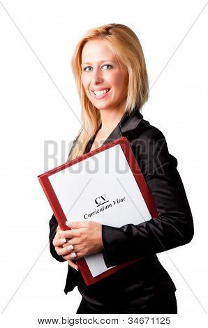 Businesswoman Looking For A New Job
