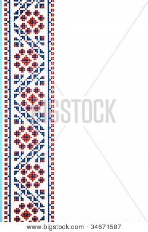 Ukrainian ornament on white background vertical