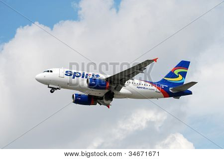 Spirit Air Airbus A-319 Jet Airplane
